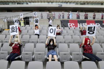 FC Seoul filled the stands with sex dolls for their clash last Sunday.