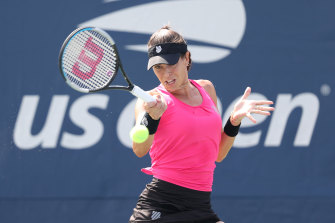 Australia's Ajla Tomljanovic cruised through her round one match against American Katie Volynets.