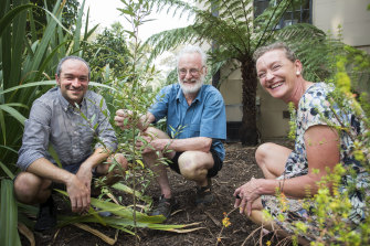 Royal Botanic Gardens Seed bank officers (from left) Andre Messina, Neville Walsh and Meg Hirst have been germinating rare or threatened plant species for many years.
