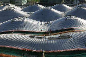 The roof of Melbourne's Southern Cross Station.