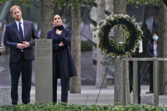 The duke and duchess tour of the National September 11 Memorial & Museum in New York.