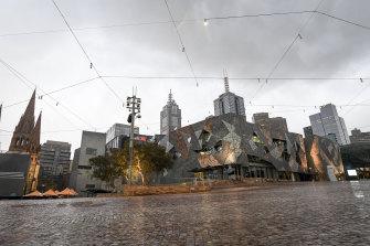 Federation Square in Melbourne's city centre.