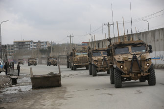 British soldiers with the NATO-led Resolute Support Mission arrive at the site of an attack in Kabul, Afghanistan, last year. More co-operation would not necessarily mean NATO forces in the Asia Pacific.