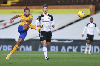 Everton's Dominic Calvert-Lewin in action against Fulham.