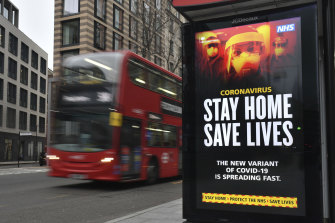 The British government has ramped up its warning as the infection rate soars in London.