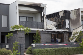 Part of the second storey of the townhouse was completely destroyed in the blaze.