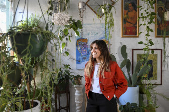 Plant stylist Jenna Holmes, of Plant Mama, in her Collingwood home.
