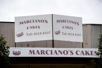 Marciano's Cakes in Maidstone on Monday.