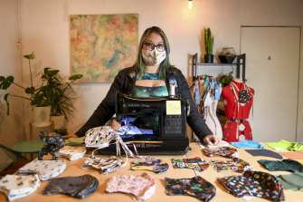 Clara Carija started making free masks for health workers. She now charges $15 for public sales and business is booming.
