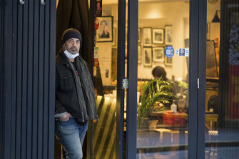 Tony Roussos, owner of The Quarter cafe in Degraves Street, Melbourne, is among the traders eagerly awaiting news on plans to reopen.