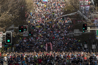 This year's City2Surf will be different from the huge crowds of past events.