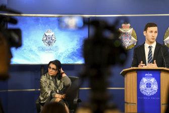 Inga and Detective Senior Constable James Bartholomeusz.