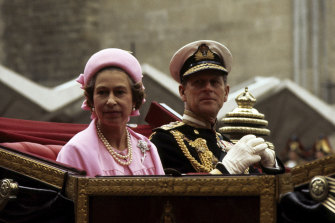 Married for more than 70 years: the Queen and Prince Philip in 1977.
