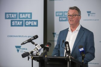 """""""This is not over by a long shot"""": Health Minister Martin Foley."""