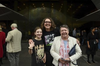 Family day: Margaret Finlayson, right, with granddaughter Eva and daughter Anna at the NGV.