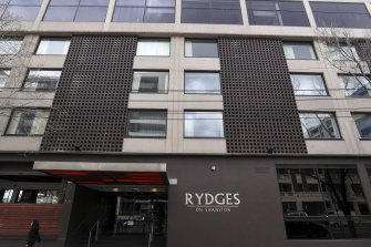 The Rydges on Swanston became a 'hot' hotel that hosted COVID-positive travellers from other hotels.