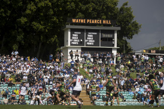 Wayne Pearce Hill at Leichhardt Oval during the Shute Shield final.