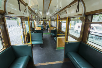 The 35 City Circle tram, usually popular with tourists, had just a handful of passengers.