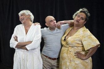 History Bites Back - Trisha Moreton-Thomas, Stephen Oliver and Elaine Crombie.