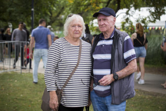 Val and Bob Willis, who came to Moomba to watch the waterskiing.