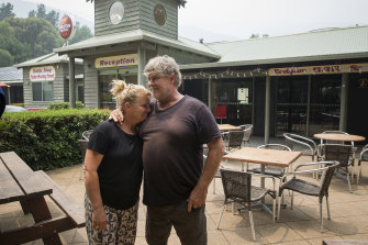 Ross and Dianne Larard took ownership of the Harrietville Hotel Motel three weeks ago.