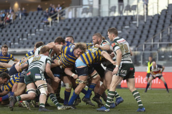 The Shute Shield club rugby grand final at Bankwest Stadium in Parramatta.