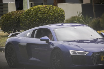 The blue Audi owned by Anthony Koletti outside his Dover Heights home.