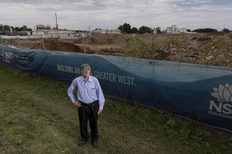 Bill Ryall, one of NSW's leading contamination experts at 6 Grand Avenue Camellia.