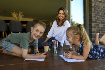 Rachelle Bingham has decided to keep her kids Hudson, 7, and Scarlett, 5, out of school.