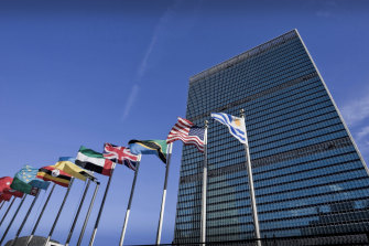 The United Nations headquarters in New York has been closed to the public.