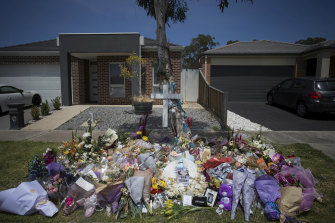 People have been laying flowers for Celeste Manno who was found dead at her home in Mernda.