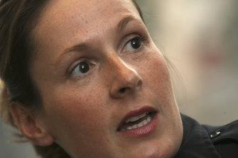 Kim Potter, pictured in 2007, quit the Minneapolis Police Department after Sunday's fatal shooting.