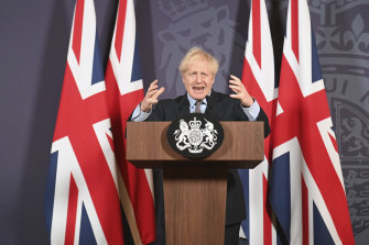 British Prime Minister Boris Johnson. The UK is among the Western countries to have secured vaccines from multiple  suppliers – in some cases doses exceed the number of people needing to be vaccinated.