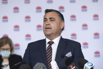 Acting NSW premier John Barilaro on Monday.
