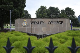 Former principal Phil De Young sent his three children to Wesley College thanks to a staff discount.