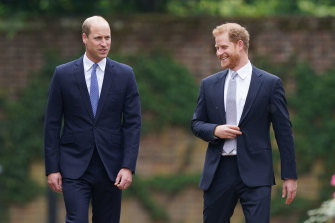 William and Harry were all smiles on the way to Thursday's ceremony.