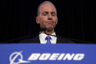 Boeing Chief Executive Dennis Muilenburg.