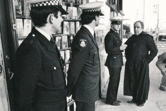 Father Anthony Bongiorno outside the bookshop.