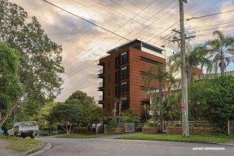 Renders of the planned development of 51 Mindarie Street, Lane Cove North, Sydney