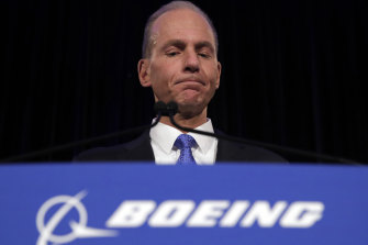Boeing Chief Executive Dennis Muilenburg.