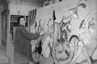 Doris Zinkeisen in her London studio in 1936.