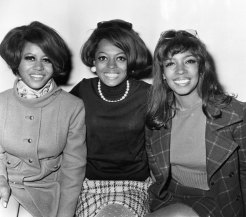 The Supremes: Mary Wilson, Cindy Birdsong and Diana Ross (centre).
