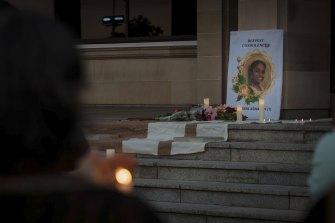 Aishwarya candlelight vigil Parliament House.