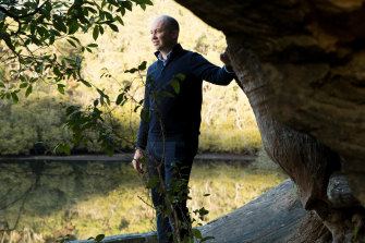 Matt Kean, the NSW Energy and Environment Minister, at Bobbin Head in the Ku-ring-gai Chase National Park.