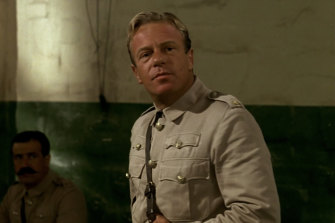 Thompson as Major Thomas, the bush lawyer drafted in to defend three Australian soldiers on war crimes charges in Breaker Morant.