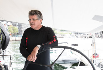 Cooney and his family planned to sail Willow  in this year's race after selling the famous supermaxi to Russian interests this year