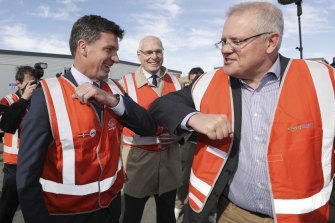 Energy Minister Angus Taylor and Prime Minister Scott Morrison.