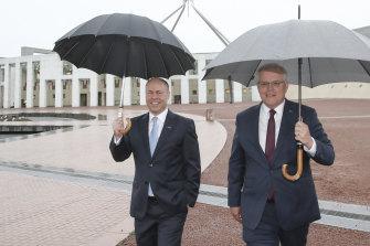 Market conditions: Treasurer Josh Frydenberg and Prime Minister Scott Morrison.