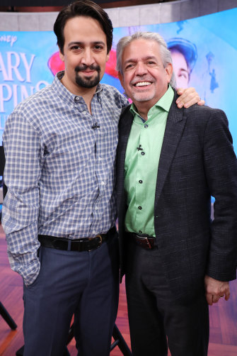 Hamilton creator Lin-Manuel Miranda and his father, Luis. It was Luis Miranda was thinking of when he first read Ron Chernow's book on Alexander Hamilton.