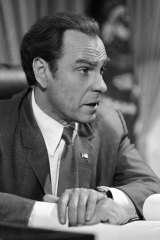 "Rip Torn plays Richard Nixon during the filming of ""Blind Ambition,"" an eight-hour film for television. Award-winning television, film and theater actor Torn has died at the age of 88, his publicist announced Tuesday, July 9, 2019."